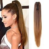 Neverland Belleza 20(50cm) Ombre Dos Tonos Largo Clip Recto en / en Wavy PonyTail Pony Tail Hair Extension Hairpiece Claw 8 #