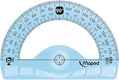 Maped 244180 Halbkreis-Winkelmesser Flex 180 Grad, 120 mm ,farblich sortiert