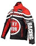 MDM Racing Jacke für Kinder in rot, Motorradjacke, Textil Jacke (L)