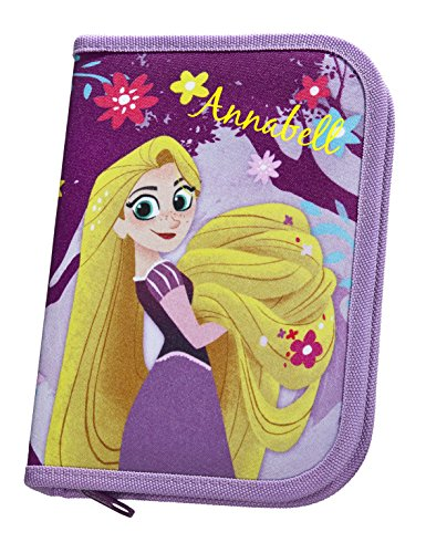 Federmappe mit Namen   inkl. NAMENSDRUCK   Motiv Rapunzel   personalisieren & bedrucken   Federmäppchen Schüleretui Federtasche 30-teiliges SET MARKENSTIFTE