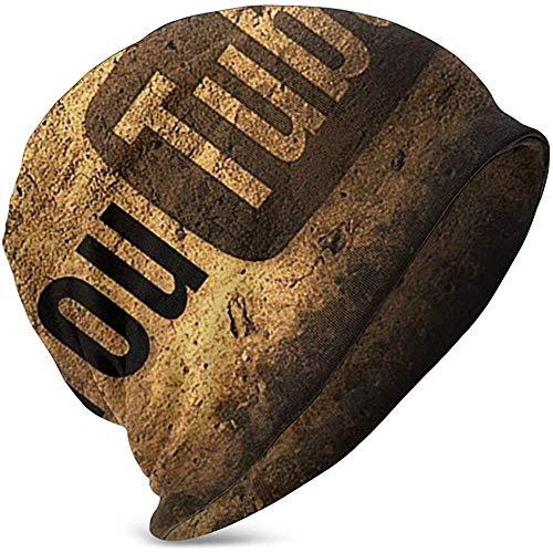 Logotipo Antiguo de Youtube Sombrero cálido de Invierno Gorro de Punto Gorro de Calavera Gorro de Gorro para niño 'S Girl' S Kids