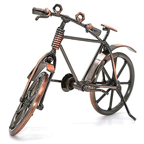 FORE Modelo de Bicicleta de Metal, Adornos de Bicicleta de Arte de Metal, Escultura de Metal Retro Decoración de Bicicletas de Hierro Forjado, para la Decoración de la Sala de Estar del Hogar