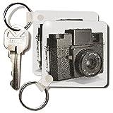 3dRose Bild von einer Vintage Kunststoff-Filmkamera Schlüsselanhänger, 2,25 Zoll, 2 Stück, 6 cm, variiert