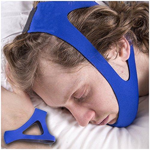 EasySleep Pro Einstellbarer Stop Schnarchen Kinnriemen (Blau)