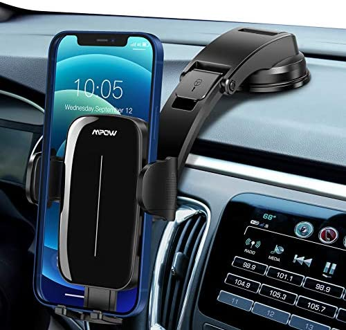Mpow Car Phone Mount Dashboard Car Phone Holder with Strong Sticky Gel Suction Cup Adjustable product image