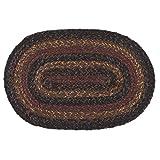 IHF Home Decor Slate Oval Jute Braided Area Rug Floor Carpet 36 x 60 Inch