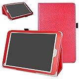 Mama Mouth Archos 97C Platinum Coque, Slim Folio PU Cuir Debout Fonction Housse Coque Étui Couverture pour 9.7' Archos 97C Platinum Android 6.0 Tablet PC,Rouge