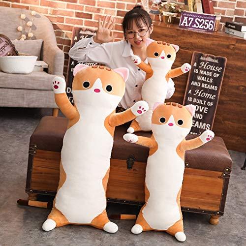 猫ぬいぐるみ ねこ 縫い包み 抱き枕 抱っこクッション 特大 65CM-110CM バンザイ姿 ブラウン 可愛い ふわふ...