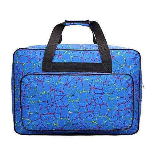 Ecosway universelle Nähmaschinentasche aus Nylon mit großem Fassungsvermögen, mit Taschen und Griffen, für Zuhause, Reisezubehör blau