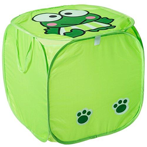 Spielzeugbox Aufbewahrungsbox POP-UP Staubox Kinder Truhe Spielzeugtruhe Spielzeugkiste in 3 verschiedenen Modellen (FROSCH)