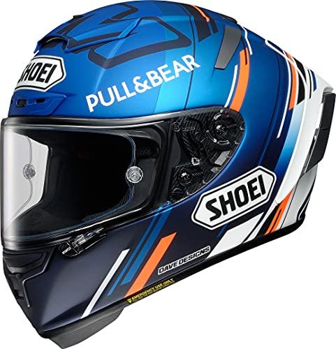 Shoei X-Spirit III Marquez AM73 TC-2 Motorradhelm Integralhelm Racing Helm blau matt, L