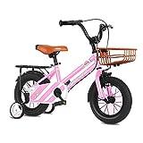 ZLI Bicicletas Infantiles Bicicletas para Niños Grandes - Neumáticos de 18/16/14/12 Inch, Bicicletas para Niñas de 2 a 12 Años con Ruedas de Entrenamiento, Freno y Canasta (Size : 18inch)