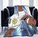 VJSDIUD Music Lil Uzi Vert Winter Ultra Soft Micro Fleece Manta Tamaño Completo Niños Adultos Mantas cálidas para Hombre y Mujer Manta difusa