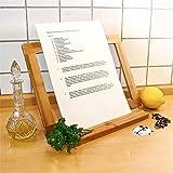 Relaxdays Buchstütze Bambus H x B x T: ca. 23,5 x 32 x 12 cm Buchständer für Koch- und Backbücher Buchhalter als Leseständer und Notenständer Kochbuchhalter für dicke Bücher Rezepthalter Holz, natur - 3