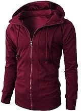 Mens Hoodie Jacket, Coupondeal Slim Fit Long Sleeve Lightweight Zip-up Jackets Coat Sweatshirt