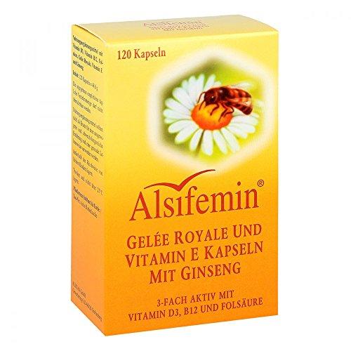 Alsifemin Gelée Royale und Vitamin E Kapseln mit Ginseng, 120 St. Kapseln