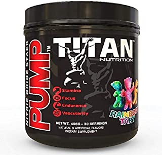Pump- Stimulant Free Nitric Oxide Boosting Stack, with Citrulline Malate for Maximum Pump, Vascularity and Improved Circulation with Brain Complex for Increased Focus (Rainbow Tart)