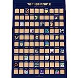 Top 100 Anime Scratch Off Poster - Die Beste Japanische