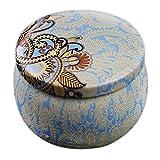 CasaJame Casa Arredamento Decorazione Accessori Soprammobili Organizzazione Biscottiera Circolare in Ceramica con Motivi Natalizi Ghirlanda