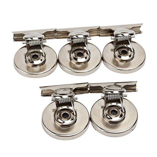 Magnet-Clips, magnetisch, für Zuhause, Büro, Metall, kleine Bulldogge, 5 Stück