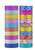 ♥ GLITTER TAPE FOR ART AND CRAFT Shiny and Glittery Tape Rolls with Beautiful Patterns. ♥ Great for Arts, Craft and Various Other Creative Projects. ♥ Use Them for Decorating Various Items and Gifts. ♥ Set of 20 Colorful Adhesive Glitter Tape Rolls f...