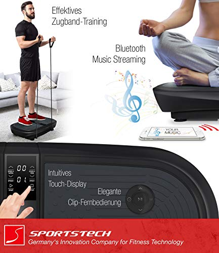 Sportstech Profi Vibrationsplatte VP300 mit 3D Wipp Vibrations Technologie - 4
