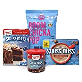One Cocoa Lovers Snacking and Baking Box With Flavored Popcorn, Cake Mix, Frosting and Hot Cocoa Mix Each box contains: 1 bag of Angie's BOOMCHICKAPOP Hot Cocoa Marshmallow Flavored Drizzled Kettle Corn, 1 Duncan Hines Swiss Miss Hot Cocoa Flavored C...