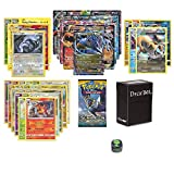 Pokemon EX Guaranteed with Booster Pack, 6 Rare Cards, 5 Holo/Reverse Holo Cards, 20 Regular Pokemon Cards, Deck Box and 1 Top Cut Central Exclusive Dice