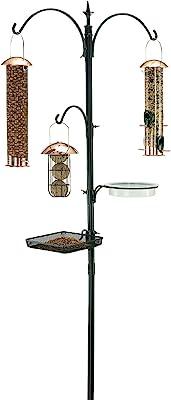 """Gardman BA01131 Premium Bird Feeding Station Kit, 21"""" Wide x 90"""" High (73"""" above ground height),Black"""