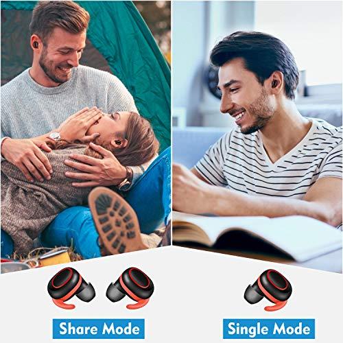 bakibo Auriculares Inalámbricos Bluetooth 5.1, TWS Deportivos Auriculares con Micrófono IPX7 Verdadero Sonido Estéreo Auriculares LCD Estuche de Carga 800mah, 40 Horas de Duración, Control Táctil miniatura