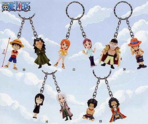 ONE PIECE (ONE PIECE) - twin figure key case Vol.1 All the five-sort sets