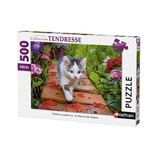 Nathan- Puzzle Kätzchen im Garten, 500 Teile, 87185