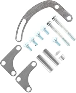 Eternal Firm 1 Set Power Steering Pump Support Bracket Rack Billet Adjustable Fit for Car Pump Parts (Color : Silver)