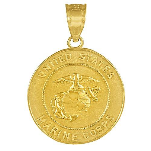 14 Carat «US Marine Corps» Or Piece de Monnaie Pendentif