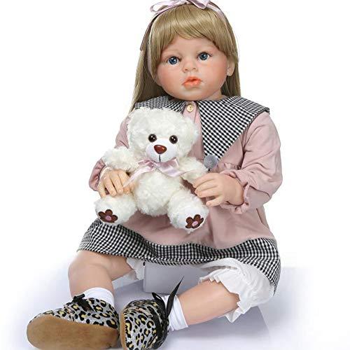 Alian Muñeca Suave recién Nacida de Silicona de Vinilo Realista, muñeca de Renacimiento (70 cm), Parece muñeca Real, Regalo de cumpleaños bebés