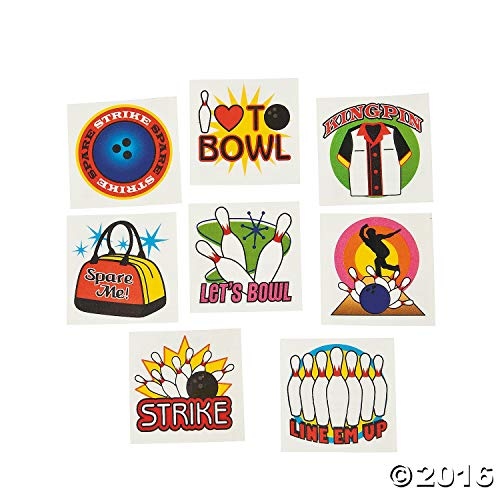 Bowling Tattoos - Pack of 72