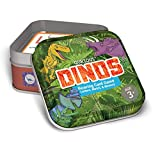 Qurious Dinos | STEM Flash Card Game | Build, Find, Match & Roar Through Millions of Years of History. Perfect for Jurassic, Dinosaur and T-Rex Enthusiasts