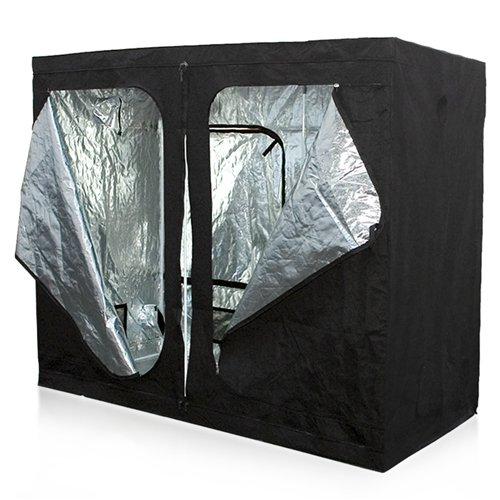 "Best Choice Products Reflective Mylar 96"" X 48"" X 78"" Hydroponics Grow Tent Hydro Box Hut Cabinet"