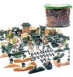SSRSHDZW Plástico Soldado 200 Pieza Acción Ejército Cifras Expuestas, Tanques Militares Soldado Juguete Parque Infantil, Aviones, Banderas Batalla Partido Los Accesorios Visualización