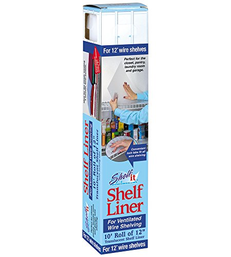 Shelf-it Liner for 12' Wire Shelving with Locking Tabs - 10 Foot Roll