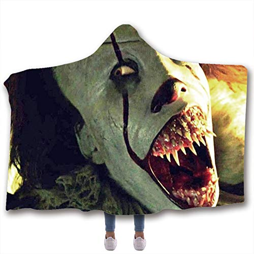 Upupto 3D Scary Character Blanket for Kids Adult Hooded, Wearable Hood Throw Blankets Wrap Toddlers Blanket Gift Cozy Magic Cloak,B,200 * 150cm