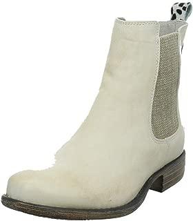 40 IQ white Leder Schuhe Boots weiß schwarz Punkte Stiefeletten NEU Gr