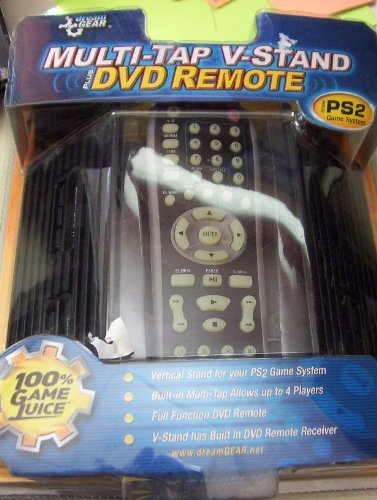 PS2 Multi-Tap V-Stand With DVD Remote