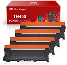 Toner Kingdom Compatible Toner Cartridge Replacement for Brother TN450 TN-450 TN420 TN-420 for HL-2240 HL-2270DW HL-2280DW MFC-7360N DCP-7065DN MFC7860DW Intellifax 2840 2940 Printer (4 Black)