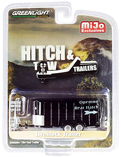 Livestock Trailer Black Hitch & Tow Trailers Series Limited Edition to 2,300 Pieces Worldwide 1/64 Diecast Model by Greenlight 51213
