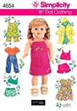 Simplicity 4654 Summer Baby Doll Clothes Sewing Pattern for Baby Girl by Elaine Heigl Designs, Size 18''