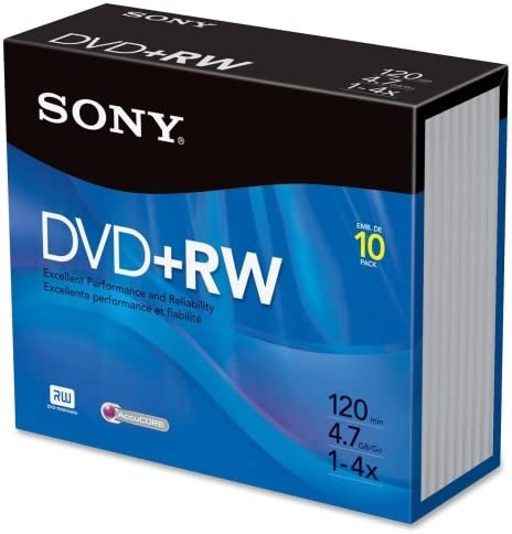 Sony Branded DVD RW Rewritable Disks product image