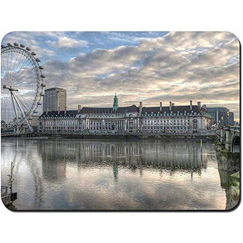 Muiskussens, Londen, Aquarium, reuzenrad op maat rechthoek antislip rubber muismat Gaming Mouse Pad,30X25Cm
