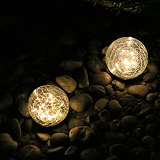 Uonlytech Solar Crack Ball Garden Lights Outdoor Decorative Ground Lights Lawn Night Light for Lawn Yard Garden Outdoor