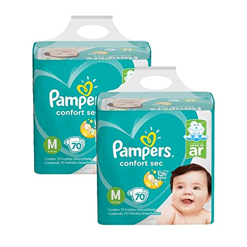 Kit Fralda Pampers Confort Sec Super Tamanho M 140 unidades